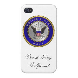 """""""Proud Navy Girlfriend"""" iPhone 4/4s case"""