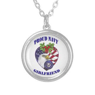 Proud Navy Girlfriend Necklace
