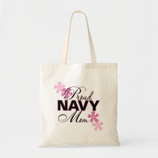 Proud Navy Mom Budget Tote Bag