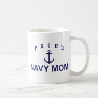 Proud Navy Mom Coffee Mugs