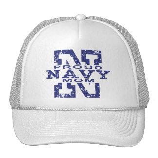 Proud Navy Mom Mesh Hat