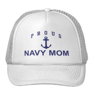 Proud Navy Mom Mesh Hats