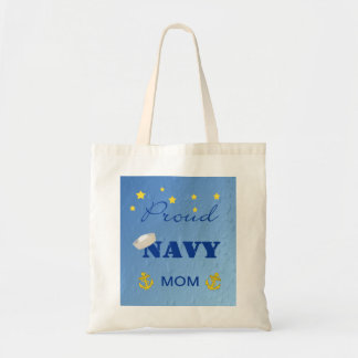 Proud Navy Mom Tote Bag
