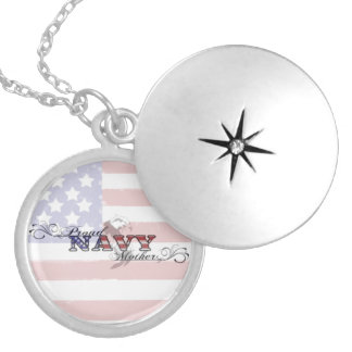 Proud Navy Mother Patriotic Necklace