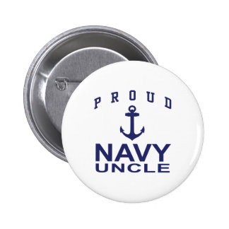 Proud Navy Uncle Pinback Buttons