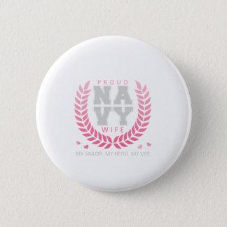 Proud Navy Wife Crest 2 Inch Round Button
