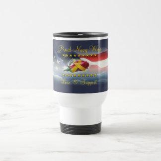 Proud Navy Wife Travel Mug