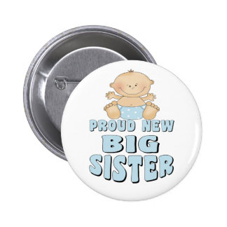 Proud New Big Sister Boy Buttons