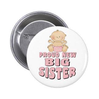 Proud New Big Sister Girl Pins