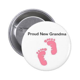 Proud New Grandma 2 Inch Round Button