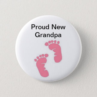 Proud New Grandpa 2 Inch Round Button