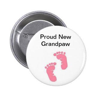 Proud New Grandpaw 2 Inch Round Button