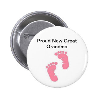 Proud New Great Grandma 2 Inch Round Button