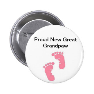 Proud New Great Grandpaw 2 Inch Round Button