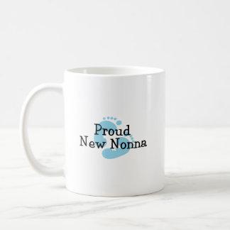 Proud New Nonna Baby Boy Footprints Coffee Mug