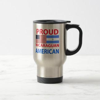 Proud Nicaraguan American Travel Mug