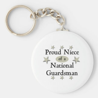 Proud Niece of a National Guardsman Basic Round Button Keychain