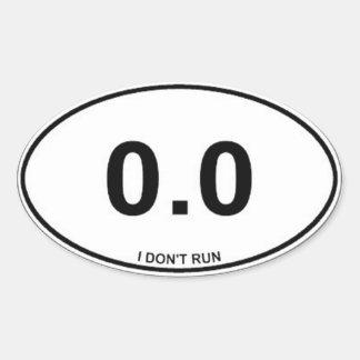 Proud Non runner Oval Sticker