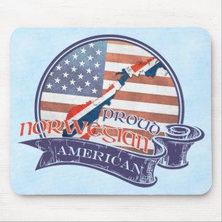 Proud Norwegian American Mousemat Mouse Pad