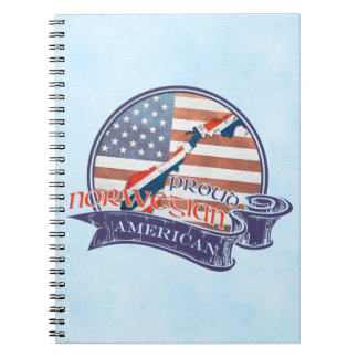 Proud Norwegian American Notepad Notebook
