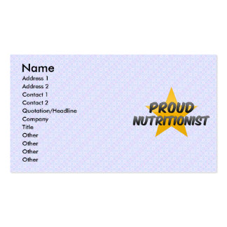 Proud Nutritionist Business Card
