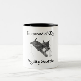 Proud of My Agility Scottie Two-Tone Coffee Mug