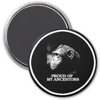 Proud of My Ancestors - Evolution - - Pro-Science  3 Inch Round Magnet