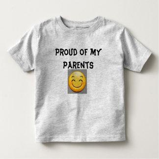 Proud of my parents toddler t-shirt
