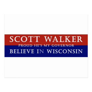 Proud of Scott Walker Postcard