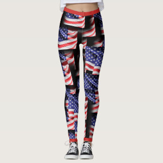 Proud Of The Red White And Blue Leggings