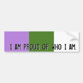 Proud of who I am - GQ flag bumper sticker