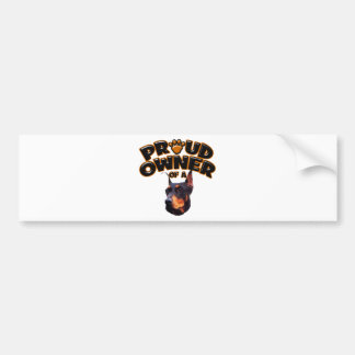 Proud Owner of a Doberman 2 Bumper Sticker