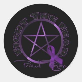 Proud Pagan Round Sticker