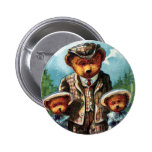 Proud Papa Bear - Letter P - Vintage Teddy Bear Pinback Buttons