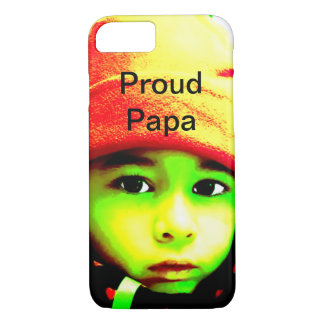Proud Papa With Child's Photo iPhone 8/7 Case