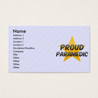 Proud Paramedic Business Card