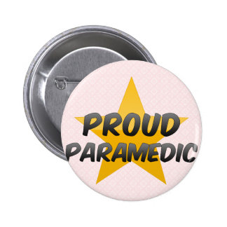 Proud Paramedic Pinback Button
