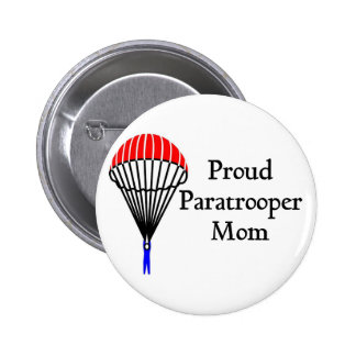Proud Paratrooper Mom 2 Inch Round Button