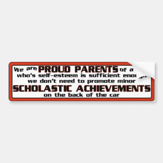 Proud Parent Bumper Sticker