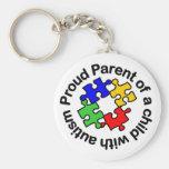 Proud Parent Child w/autism Keychain