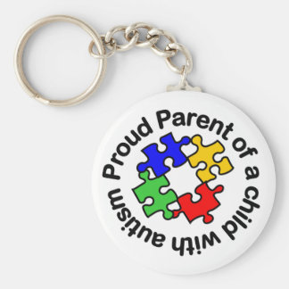 Proud Parent Child w/autism Keychain
