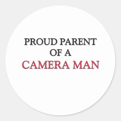 Proud Parent Of A CAMERA MAN Round Sticker