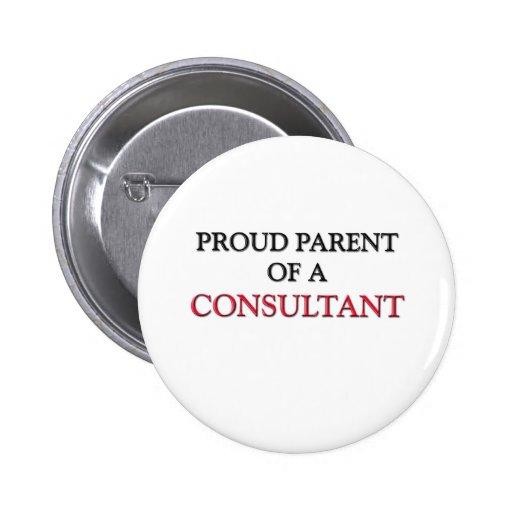 Proud Parent Of A CONSULTANT Pinback Button