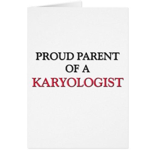 Proud Parent Of A KARYOLOGIST Cards
