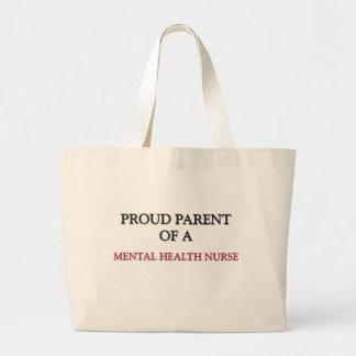 Proud Parent Of A MENTAL HEALTH NURSE Large Tote Bag