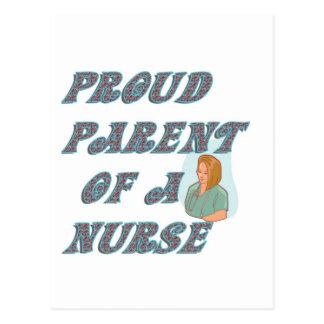 PROUD PARENT OF A NURSE POSTCARD
