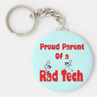 Proud Parent of a RAD TECH Keychain
