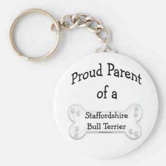 Proud Parent of a Staffy Keychain
