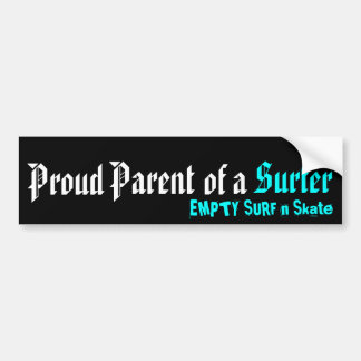 Proud Parent of a Surfer Bumper Sticker