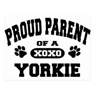 Proud Parent of a Yorkie Postcard